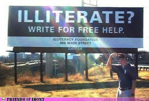 illiterate write for help
