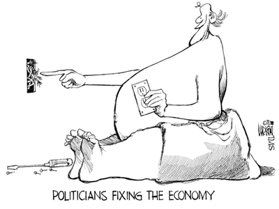 Politicians fixing the economy - uploaded