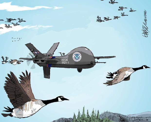 US drone over Canada