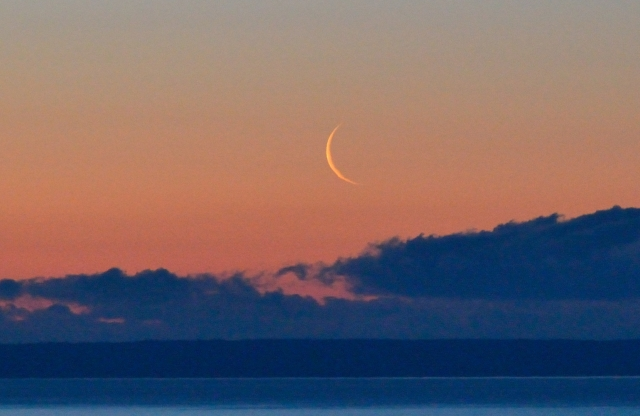 NEW MOON OVER SIBLEY PENINSULA May 4, 2016