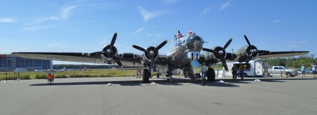 RESTORED B-17 BOMBER On display at Thunder Bay Airport  Aug. 3, 2016