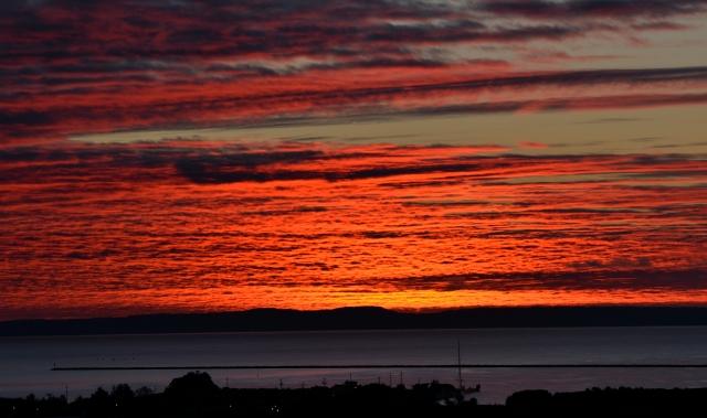 FIERY RED SUNRISE CLOUDS