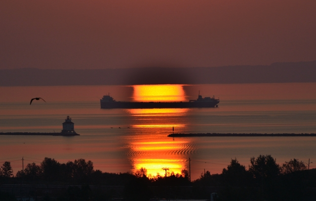 SUNRISE SHIP REFLECTION 2