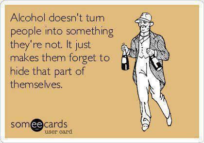 alcohol reveals