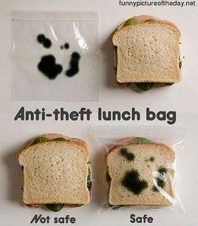 antitheft lunch bag