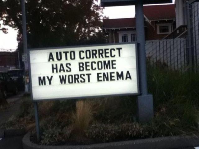 autocorrect worst enema