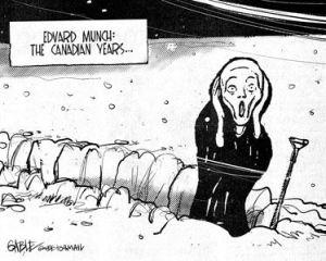 Canada snow Edvard Munch