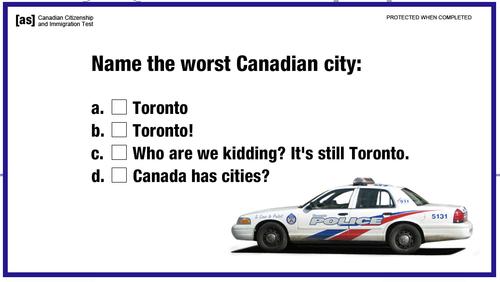 Canada worst city Toronto