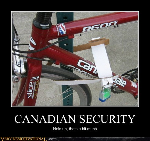 Canadian bike security