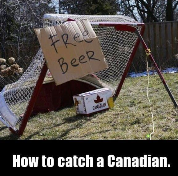 Canadian catch - free beer