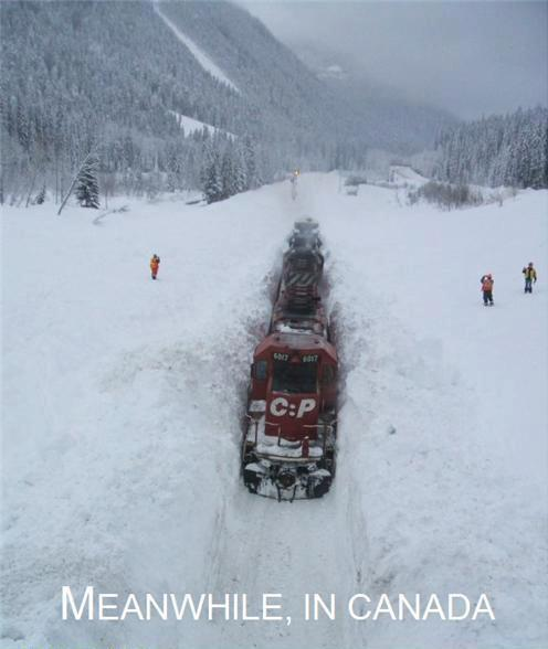 Canadian Pacific snow train