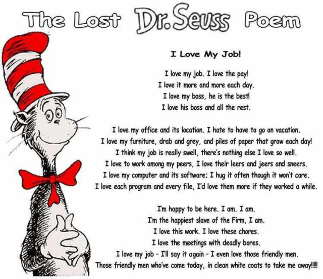 Dr Seuss love my job