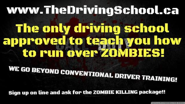 driving school kill zombies
