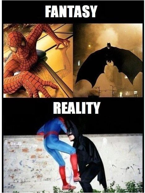 fantasy reality batman spiderman