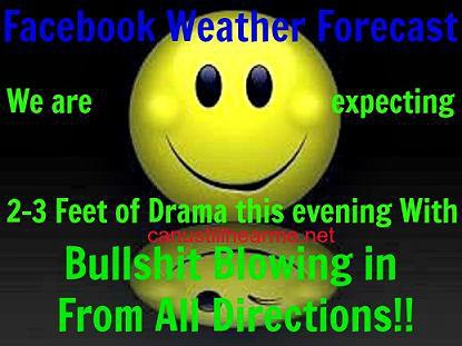 FB weather forecast
