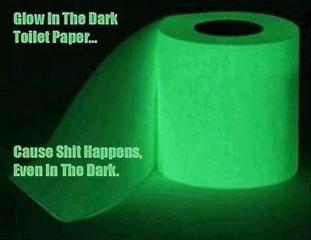 glow dark toilet paper