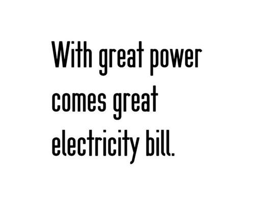 great power electric bill
