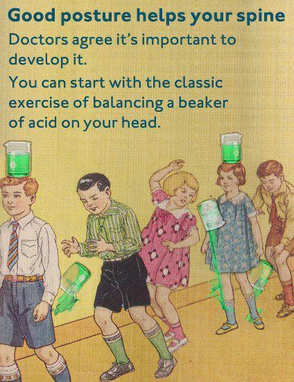 p[osture balance acid beaker