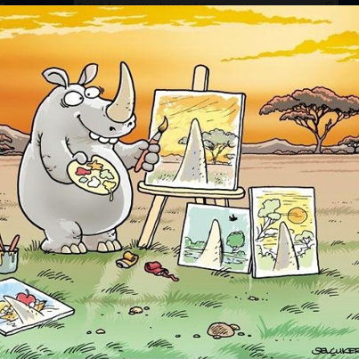 rhinocerous painting