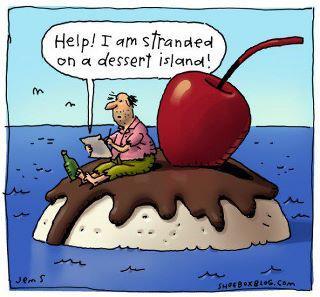 stranded dessert island