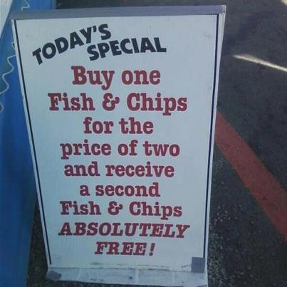 todays special fish chips