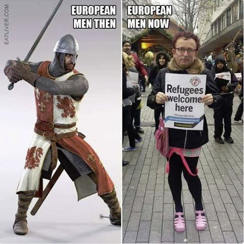 1 European men then and now FB X