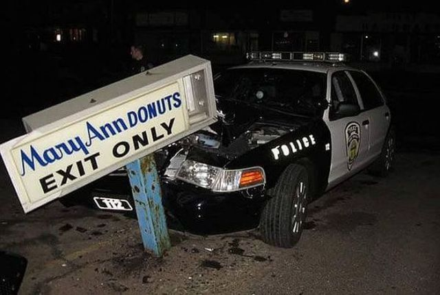 1 irony police car donuts FB X