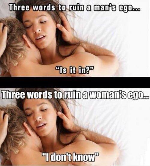 3 words ruin ego X