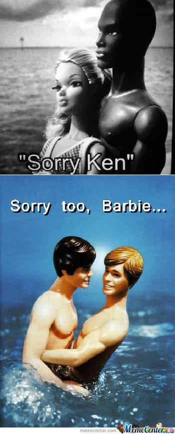 Barbie Ken sorry