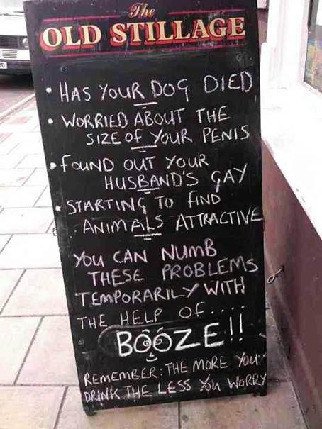 booze less worry X