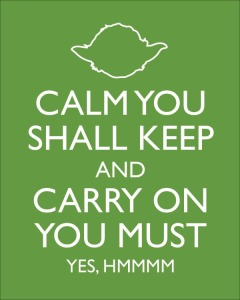calm you shall keep X