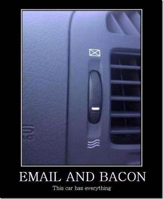 car email bacon X