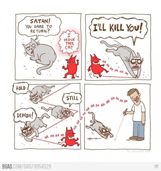 cat satan laser X