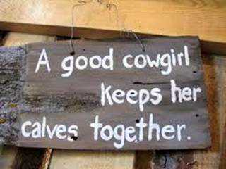 cowgirl calves together X
