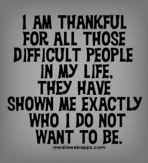 difficut thanks people