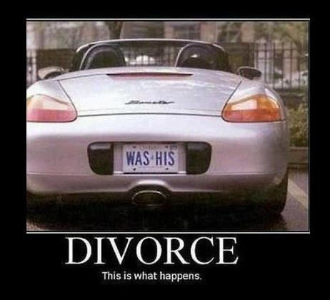 divorce was his X