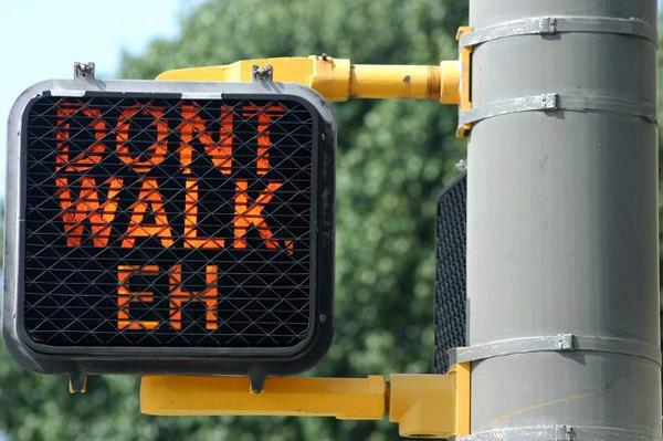 dont walk sign X