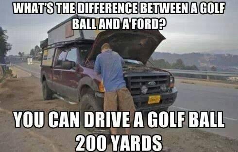 Ford vs golf ball X