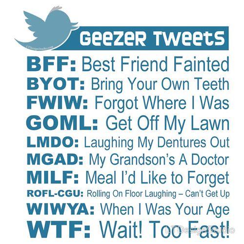 geezer tweets X