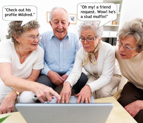 geezers on facebook X