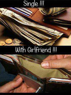 girlfriend wallet single X