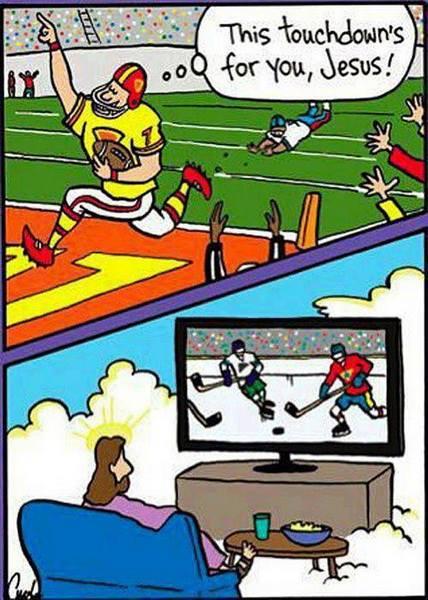 hockey Jesus watches X