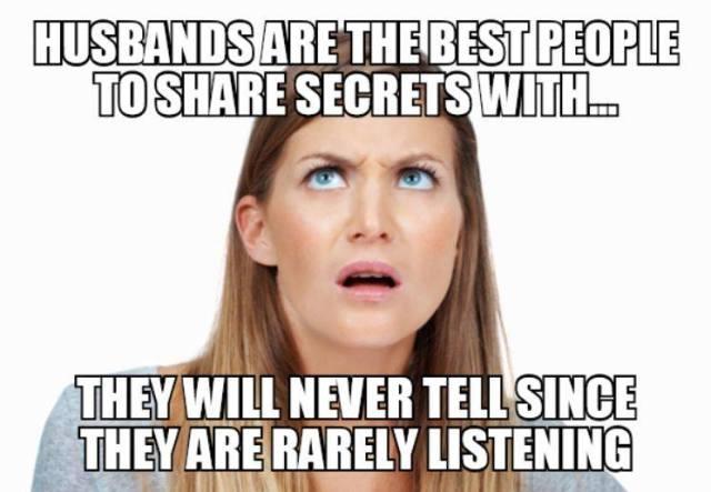husbands not listen X