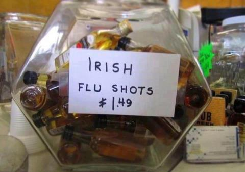 Irish flu shots X