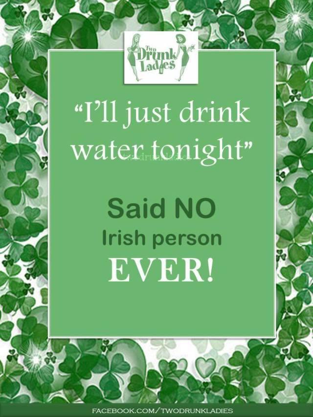 Irish no water X
