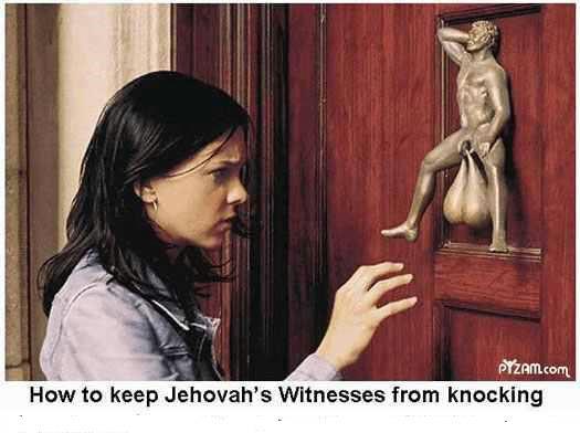 Jehvah witness doorknocker X