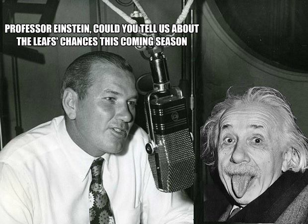 Leafs Einstein chances X
