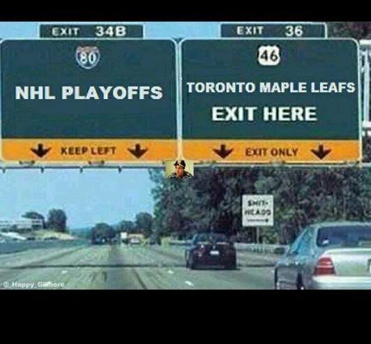 Leafs exit X