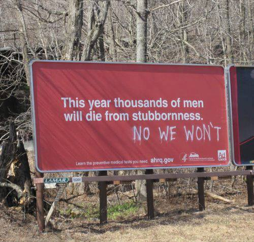 Men die stubborness X