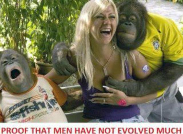 men not evolved